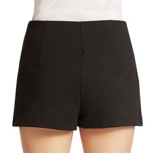Free People Ricker High Rise Ponte Shorts in Black